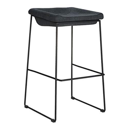 Sgabelli da bar nordici gambe imbottite in ferro battuto imbottite sgabello alto per il tempo libero creativo per il contatore domestico della cucina - cuscino nero