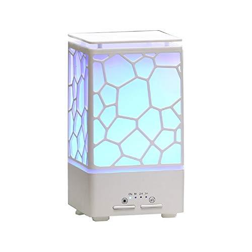 CCLAY Ätherisches Öl Diffusor 200ml Aroma Diffusor Ultraschall Aromatherapie Luftbefeuchter mit 7 Farben Warmlicht Wechsel, wasserlos automatische Abschaltung,White -