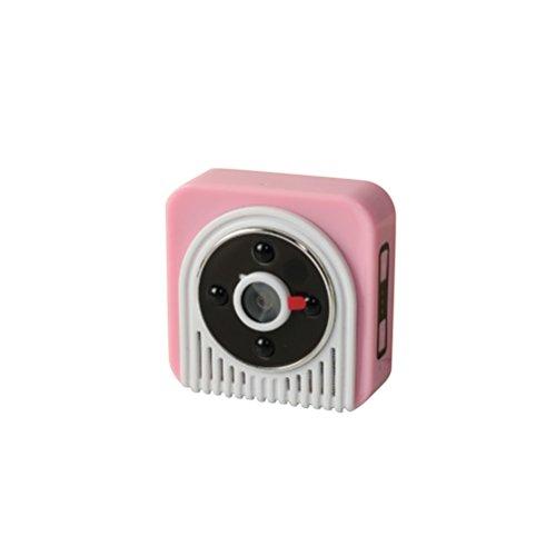 LEDMOMO WiFi Kamera mit Nachtsicht und Überwachung 720P HD 150 Grad Weitwinkel Infrarot Sicherheit Kamera Video Recorder (Rosa) (Rosa-kamera-recorder)