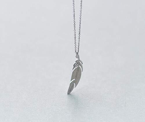 Mode frauen 100% Real. 925 Sterling Silber Schmuck Engelsflügel Vogel Feder Anhänger Halskette Tier charme GTLX1394