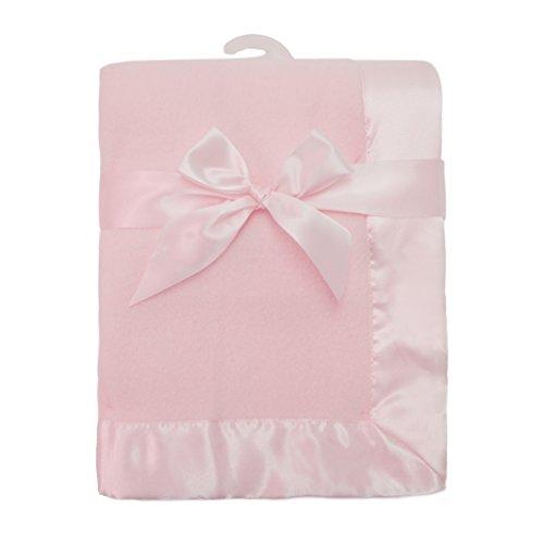 American Baby Company Fleece Decke mit Satin Trim für Babys, 30x 40 (Decke Trim Baby)