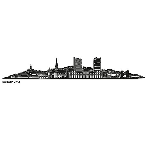 Wandkings Skyline - Deine Stadt wählbar - Bonn - 125 x 19 cm - Wandaufkleber Wandsticker Wandtattoo