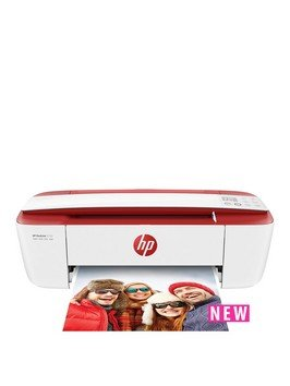 HP DeskJet 3733 All-in-One Printer with Optional Ink - Red (Printer, Setup + Full XL hp ink set)