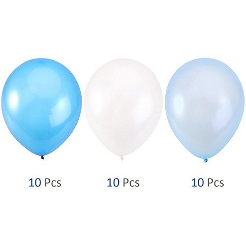 confronta il prezzo NUOLUX 30pcs 12 pollici palloncini blu palloncini per festa di nozze, 3 colori miglior prezzo