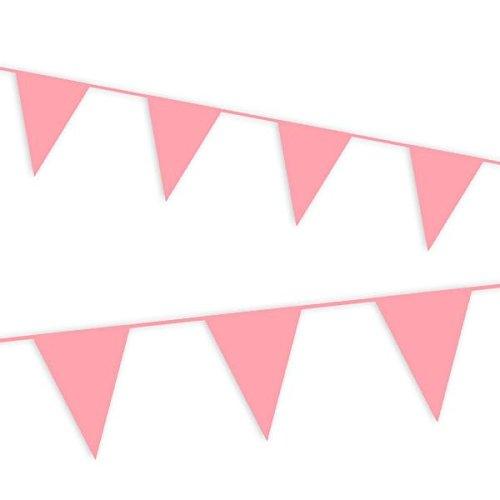 Haza Rosa Wimpelkette,10m für Kindergeburtstag Mädchen, Pullerparty Oder Babyshower