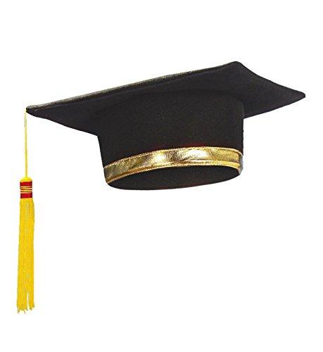 Widmann 3397l–Hut Absolvent mit goldenen Stirnband und Schwanz, -
