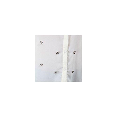 La Modeuse - Chemise fluide avec détails perles et strass Beige