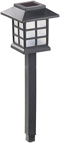 Lunartec Solar-Garten-Lichter: 6er-Set Solar-LED-Wegeleuchten Asian mit Lichtsensor, IP44 (LED-Solarlampn)