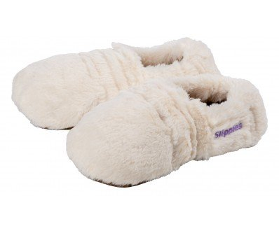 Warmies-Slippies-Deluxe-creme-Plush-Gr-M-36-40-herausnehmbare-Fllung
