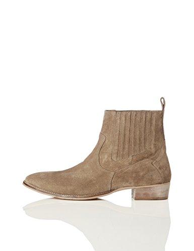 find. Herren Chelsea Boots im Western-Style, Braun (Taupe), 46 EU -