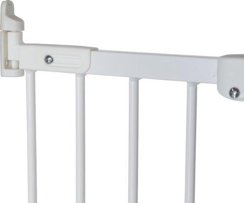 Baby Dan Flexi Fit Metall super flexibles Schutzgitter für Türen und Treppen 67 – 105,5 cm – hergestellt in Dänemark und vom TÜV GS geprüft, Farbe: Weiß - 4