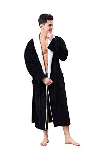 COSMOZ® Premium Morgenmantel Bademantel für Herren