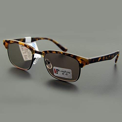 Long Feng natürlichen Kristallfelsen Brille Männer und Frauen Stil der Sonne Spiegel Fahrer Sonnenbrille die Hälfte des Rahmens halten einen frischen und kühlen Spiegel des Auges, um Strahlu