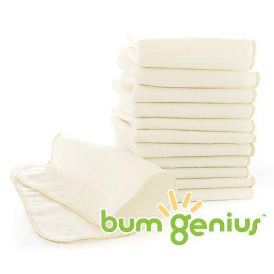 BumGenius Flanell-Babypflegetücher 12 Stück-Packung