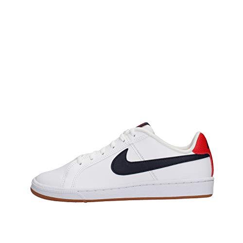 Nike Jungen Court Royale (GS) Gymnastikschuhe, Weiß (White/Obsidian/Univ Red/Gum Lt Brown 107), 39 EU (Weiße Nike Boys Sneakers)