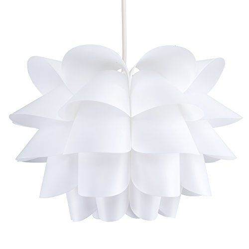 White ceiling lampshade amazon modern intricate design white ceiling pendant light shade mozeypictures Image collections