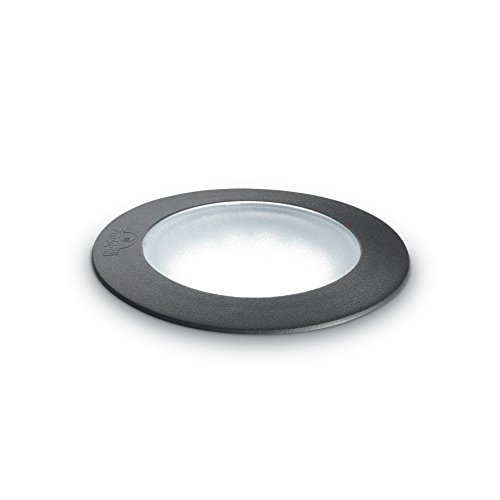 L'Aquila Design Arredamenti Ideal Lux Wandleuchte Ceci Round Small Brillengestell schwarz rostfrei Fi1