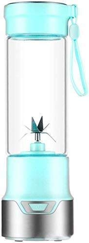 ZH~K Vaso exprimidor portáti Blender Personal Jugo USB Taza de Jugo de Hogares Electric Glass 6 Cuchillas...