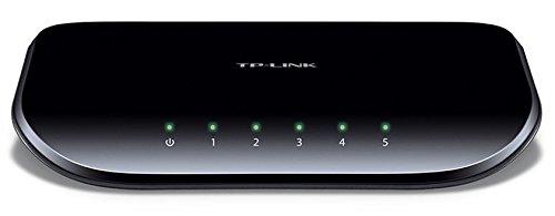 TP-Link TL-SG1005D V6.0 5 Port Gigabit Desktop Switch (5 10/100/1000MBit/s-RJ45-Ports, Autoabstimmung, Auto-MDI/MDIX, Green IT, 70% Energie einsparen, Plastikgehäuse) schwarz