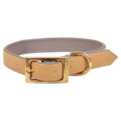 Flach Leder Hunde Halsband-S-Caramel-Stiefel & barkley153; (Halsband Leder Stiefel)