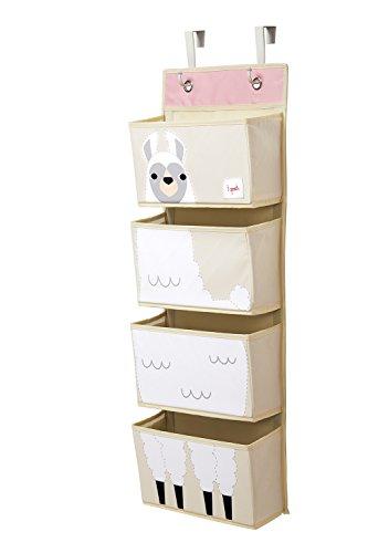3 Sprouts Wandorganizer zum Aufhängen, Llama-Weiß (Sprouts Aufbewahrungsbox)