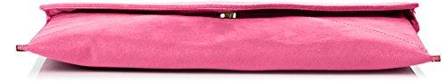 SwankySwans - Borsetta senza manici donna, rosso (burgundy), Taglia unica Neon Pink