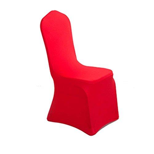 YING Universal Stuhl Bezüge Stretch Polyester Spandex für Party Hochzeiten Bankett Hotel Dekoration Decor weiß