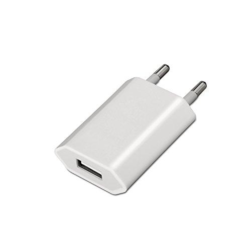comprar AISENS A110-0063 - Mini cargador USB (5V/1A) color blanco