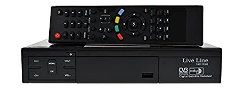 Live Line HD 1001 PLUS HDTV digitaler Satelliten-Receiver (HDTV, DVB-S2, HDMI, SCART, USB 2.0, Full HD 1080p, LED-Display) [vorprogrammiert] - schwarz