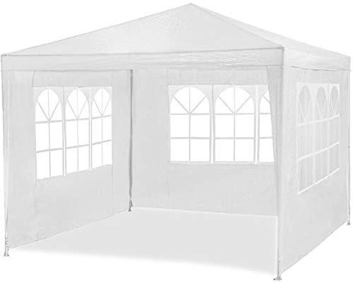 Maxx Marquee 3x4m | Protection UV50+ | hydrofuge | 12m² | pavillon, tente de jardin, chapiteau ou tonnelle du festival | 4 parois latérales enroulables | 4 fenêtres | blanc | sélection des couleurs