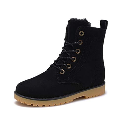 Pelz-trim Stiefel (Männer Stiefel Winter Schnee warme lässige Schuhe Leder Plüsch Pelz Mode Unisex Stiefel)