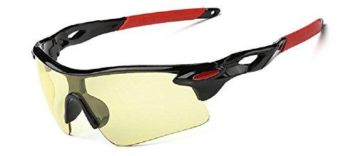 Embryform Sport Equitazione Occhiali da sole, escursioni in bicicletta avvolgere, per Sci Golf Equitazione Guida (Persol Occhiali Cornici)