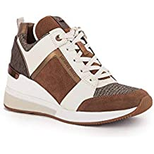 MICHAEL KORS Zapatos Mujeres Sneakers Georgie Trainer Suede 43F8GEFS1S DkCaramel