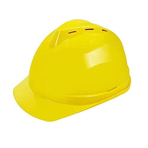 WYNZYSLBD Schutzhelmbau, Schutzhelm, Hochleistungsgerüstbau, Luftarbeit, Kletterarbeiten Bauarbeiterhelm Mit Belüftung (Color : Yellow)