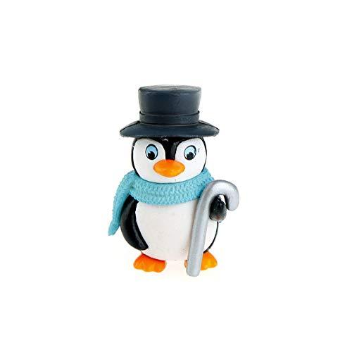 WLEYYYEstatuilla1 / 4pcs DIY Crafts Mini Winter Penguin Miniatura Figurita Figuras de Navidad para Fairy Garden, como Imagen