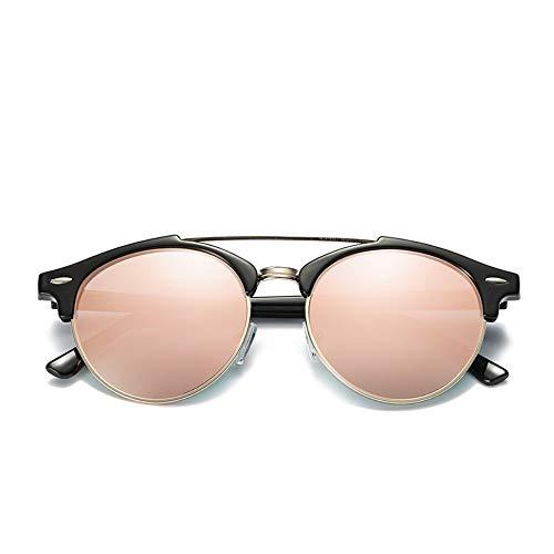 Sonnenbrille Ray Marke Designer Polarized Aviation Runde Sonnenbrille Männer Vintage Retro Brille Frauen Fahren Metall Brillen Rosa
