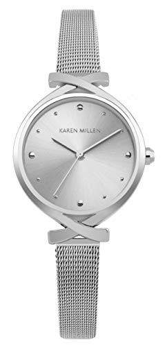 Karen Millen Reloj Analógico para Unisex Adultos de Cuarzo con Correa en Aluminio KM173SM