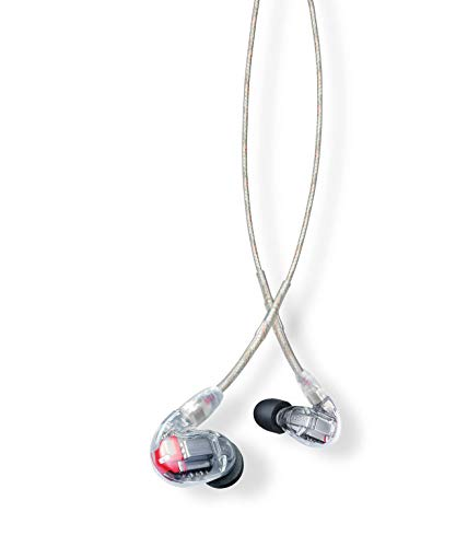 Shure SE846-CL Professionellen Ohrhörer mit Sound-Isolating-Design, vier High-Definition-MicroDrivern und transparentem Kabel mit 3,5-mm-Klinken für definierte Höhen und echte Subwoofer-Leistung thumbnail