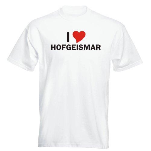 T-Shirt mit Städtenamen - i Love Hofgeismar - Herren - unisex Weiß