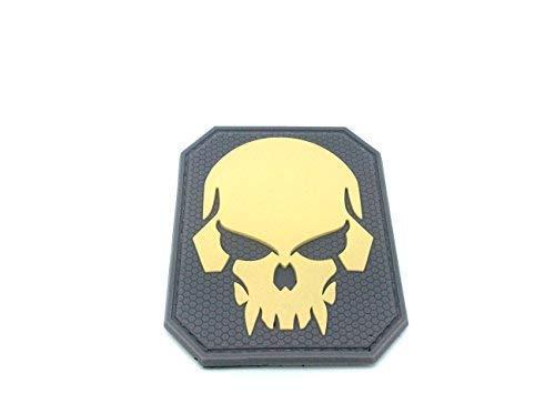 Patch Nation Piraten-Totenkopf Khaki PVC Klett Emblem ()