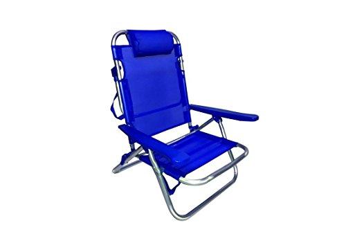 Tata linda hu-131 - sdraio pieghevole 61x53x81 h colore blu