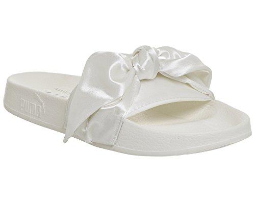 Puma - Bow Slide Wns Marshmallo - 36577402 - Farbe: Weiß - Größe: 37.0 (Weiße Bow Leder)