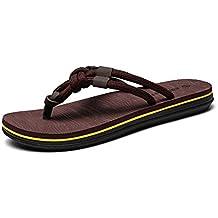 ZYLL Zapatillas De Playa Para Hombres Chanclas Con Diseño De Arco Respaldo Plano Casual Sandalias Transpirables