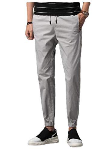 Energy Mens Outdoors Stripe Drawstring Smocked Waist Running Pants Grey 3XL
