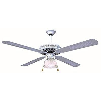 Ventilatore da soffitto 4 pale con una lampada (bianco)