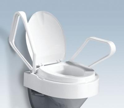 Toilettensitzerhöhung mit Armlehnen und Deckel (894634),1St