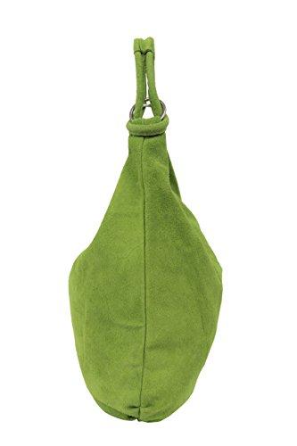 AMBRA Moda, Borsa a spalla donna XX-Large Verde mela