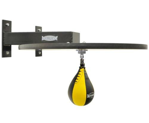 Premium Speedball Plattform Set inkl. Drehkugellagerung schwarz und PU Boxbirne medium gelb  Boxapparat für die Wandmontage BCA Abbildung 2