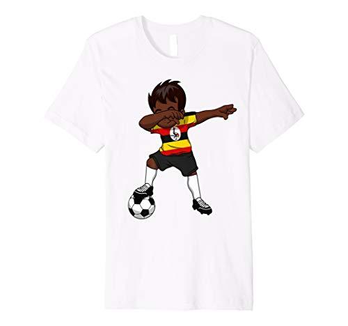 6c536a263 Uganda Ugandan Dabbing Soccer Boy Football Flag Shirt