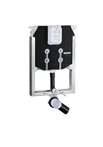 Grohe 38729000 Uniset Telaio con Cassetta di Sciacquo Ad Incasso per WC Sospeso, Cromo